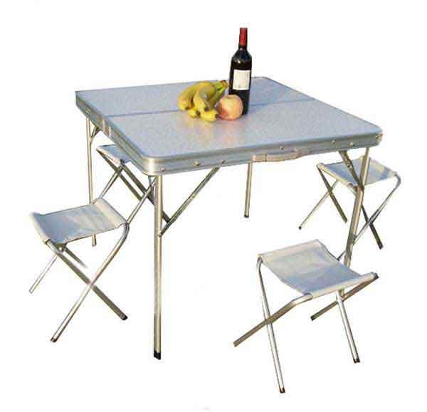 可示铝合金分体折叠桌椅