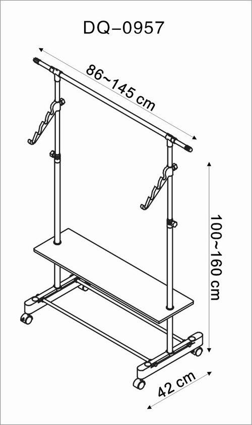 宝优妮雅尚单杆木板衣架dq-0957(小空间,大容量,在单杆挂衣架基础上