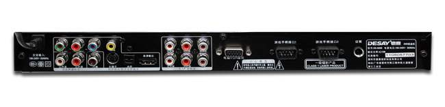 1声道输出,带数字同轴音频输出,可接数字功放机,家庭影院的绝配!