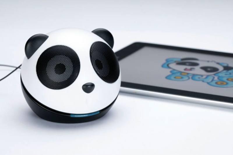 mogic 魔杰 q3 小熊猫usb音箱(黑白色 迷你卡通可爱 )