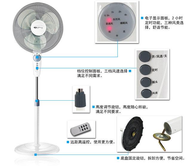singfun先锋遥控式落地扇fs40-10ar (超远遥控,柔和送