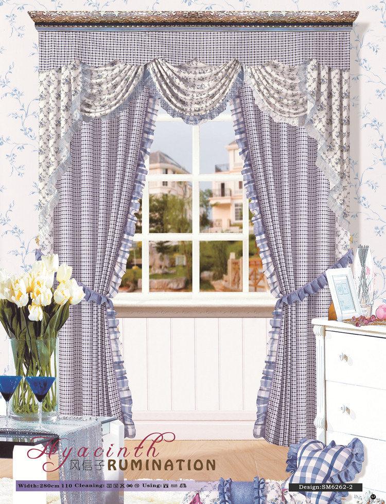 本款窗帘欧式风格,立体感强,适宜客厅,卧室等高档空间,别墅及儿童房.