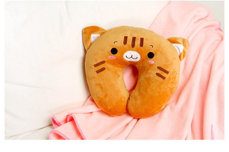 homee可爱超萌动物卡通u型护颈枕-小熊(荷木棠) 398