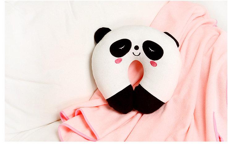 homee可爱超萌动物卡通u型护颈枕-熊猫(荷木棠)