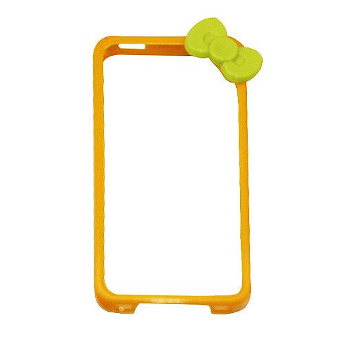乾甲天 iphone4/4s 蝴蝶结边框壳(黄色)/报价-手机
