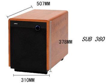 jamo 尊宝低音炮sub 360(暗苹果色,10英寸有源低音炮
