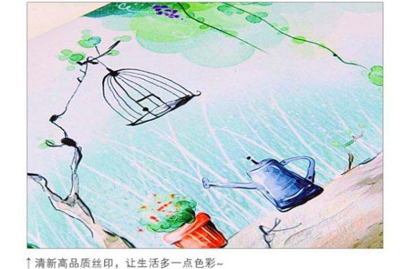 时尚唯美山水水彩画 防水防震内胆包 葡萄园 适合13.3 笔记本