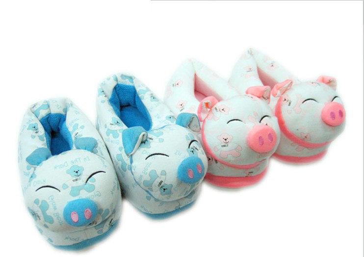 荷木棠卡通棉拖鞋 全包棉拖鞋 拖鞋保暖包跟 可爱小猪