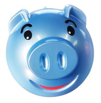 可爱笑脸猪储蓄罐(小号)蓝色