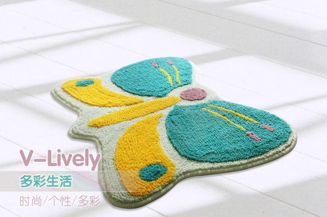 大达 da4843-4 卫立卫丽 47*63cm (卡通蝴蝶 植绒垫 儿童卡通地垫 门