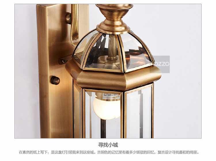 欧式铜灯壁灯wl90003(铜色)