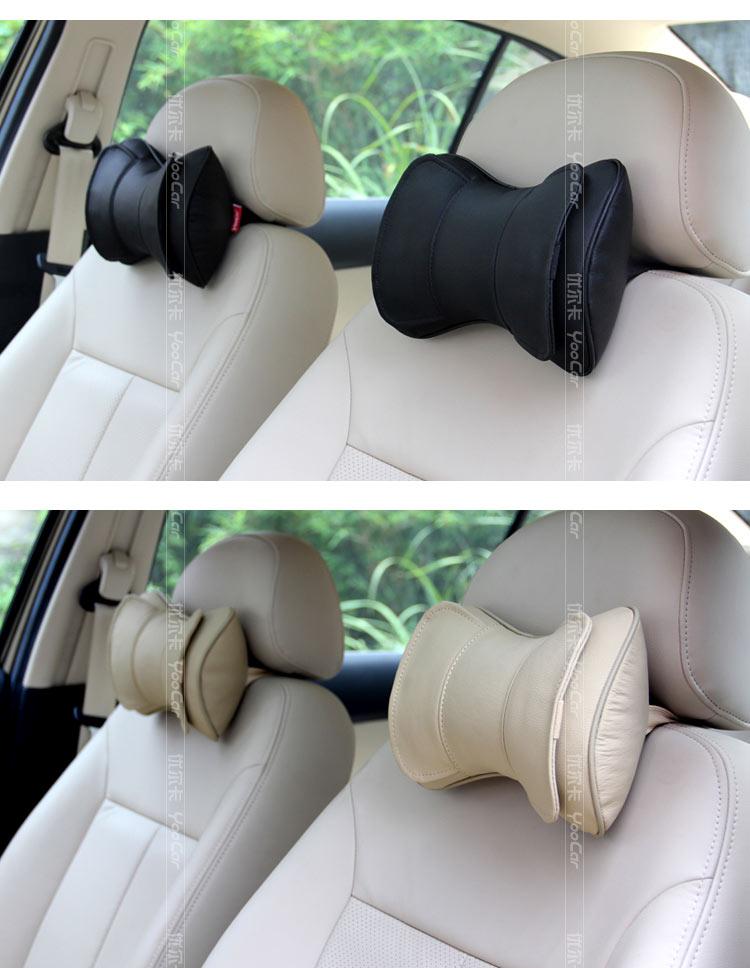 优尔卡 汽车头枕 车用 车枕 汽车用品(黑色,对装,真皮,护颈枕)  品牌