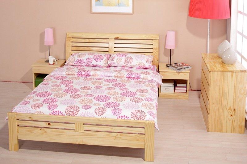 1.8米松木床/环保实木双人床