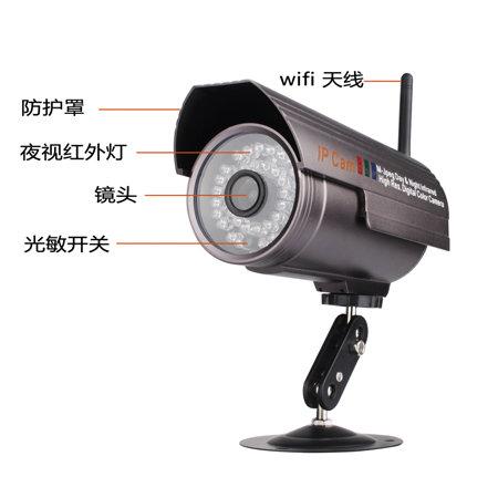 室内外无线网络监控摄像机枪机