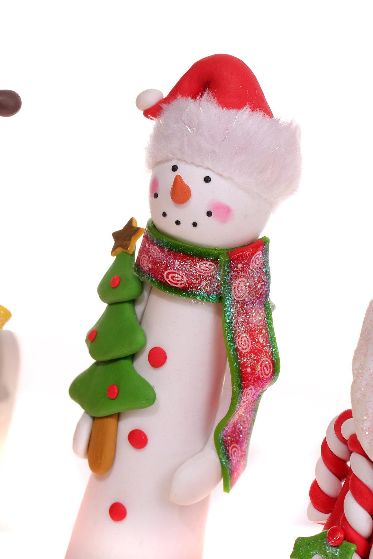 祥德福 卡通软陶圣诞装饰套装 彩色