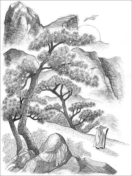 简笔画 手绘 素描 线稿 450_599 竖版 竖屏