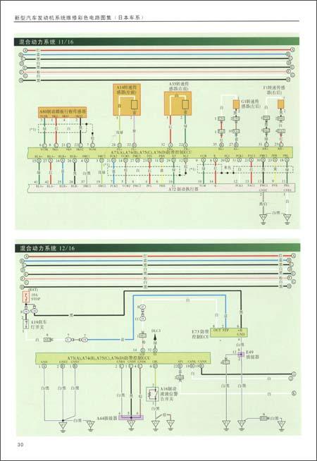 新型汽车发动机系统维修彩色电路图集 日本车系图片