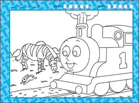 托马斯火车头简笔画_托马斯火车头简笔画画法